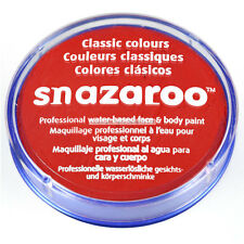 18ml Official Snazaroo Bright Red Face Paint Cream Tub Fancy Dress Accessory