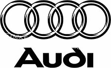 AUDI Logo Aufkleber Window Bumper Sticker Vinil 039