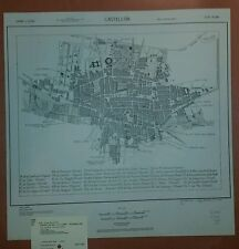1943 US Army Map City Plan of Castellon Spain