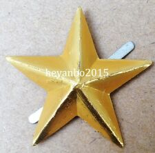 WW2 Army Cap Star Pin Insignia WWII Japanese Imperial  badge Color Yellow