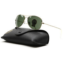 Ray Ban Cockpit Aviator Sunglasses RB 3362 001 Gold, Grey G15 Lens 56 mm