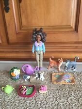 fisher price loving family House Furniture Grandmother Doll Pet Cat Lot