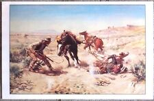 """The Cinch Ring by Charles M. Russell 24"""" X 15.5"""" Western Art Print"""