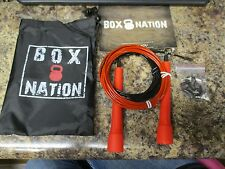 BOX NATION BOXING SPEED JUMP ROPE BLACK & RED CROSSFIT EXERCISE JP-1 COMPAIR WOD