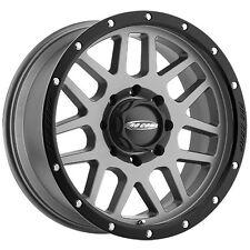 17x9 Pro Comp 2640 Vertigo Gray with Black Lip Wheels, Set of 4