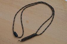 Paracord Neck Lanyard/ Keyring for ID/ Keys, Map & Compass (Woodland Camo)