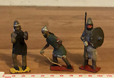 3 Vintage Painted Lead Toy Soldiers - Persian Converts - Crescent Toys