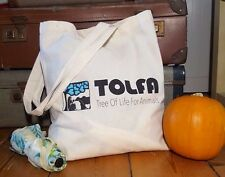 Shopping Tote Bag - TOLFA Charity saving India's animals