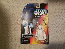 Star Wars Power of the Force Princess Leia Organa 3 ring Red Card Action Figure