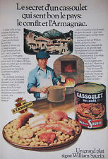PUBLICITÉ DE PRESSE 1979 WILLIAM SAURIN CASSOULET CONFIT ARMAGNAC - ADVERTISING