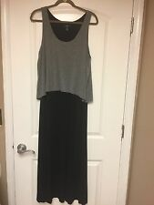 Gap sleeveless black grey dress long large ladies