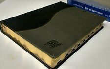 """THE SCRIPTURES"" BIBLE -  ISR - LARGE PRINT! (Duo-Tone) Charcoal Cover, 2009 Ed."