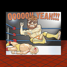 "RANDY ""MACHO MAN"" SAVAGE vs. HULK HOGAN pro wrestling POSTER ART wwf wwe wcw nwo"