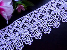 Venise Lace trim, 3 inch-white-selling by the yard