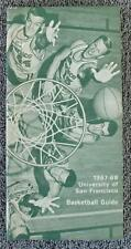 1967-68 University of San Fransisco Basketball Press/Media Guide