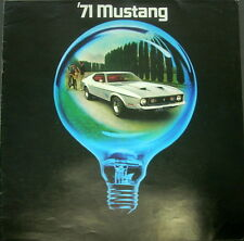 Original 1971 Ford Mustang Mach One Dealer Sales Brochure Boss 302 351 429 CJ