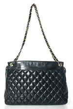 Chanel Vintage Black Classic Quilted Double Chain Shoulder Bag