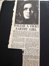 65-8 Ephemera 1965 Article Daliah Lavi Actress The Film Lord Jim