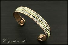 bangles Magnetic Copper ethnic Silver Golden India Bracelets jewelry AIBCF 02