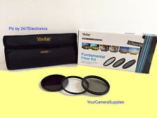 VIVITAR Filter Kit 72mm ND8 UV CPL To PANASONIC AG-DVX100 DVX100B DVC80 DVX102