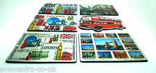 4X LONDON SOUVENIRS METALLIC FRIDGE MAGNET UNION JACK BIG BEN LONDON EYE etc