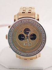 Men's Designer Freeze Large Diamond Face Watch 6.0 tcw G/SI High End