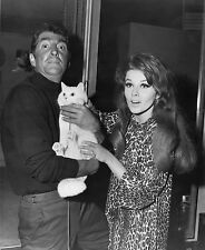 Photo originale Dean Martin Ann-Margret Matt Helm tournage chat