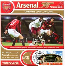 Arsenal 2007-08 AC Milan (Emmanuel Adebayor) Football Stamp Victory Card #731