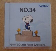 Brother Babylock Bernina Bernette Embroidery Sewing Design Card No 34 Snoopy