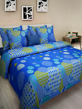 Homefabs 100% Cotton Double Bed Sheet with 2 Pillow Covers (DBS122)