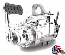 New Revtech Polished Chrome 5-Speed Kicker Transmission Trans Evo Harley Softail