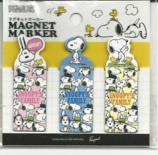 Snoopy Peanuts Magnet Marker Bookmark Snoopy's Family