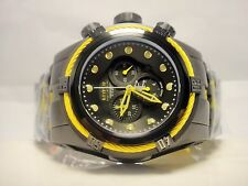 Invicta 14063 Mens Reserve Bolt Zeus Yellow Black Steel Swiss Chronograph Watch