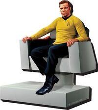 Star Trek: TOS Captain Kirk Figure in Bridge Chair 3-D Die-Cut Magnet NEW UNUSED
