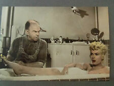 MARILYN MONROE 80s POSTCARD 1955 Seven Year Itch in bath with plumber