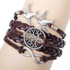 New Designe Friendship Bracelet Infinity Bird Fashion Leather Bracelet [29]