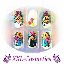 20 Airbrush French Tips Designer Tips Nails 1x Feile+Rosenholz Gratis DF-143