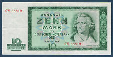 """ALLEMAGNE """"DDR"""" - 10 MARK Pick n° 23.a de 1964 en SPL  GW 888191"""