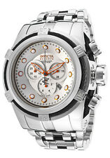 New Big Invicta 14065 Bolt Zeus Chronograph Bracelet Silver Orange Dial Watch