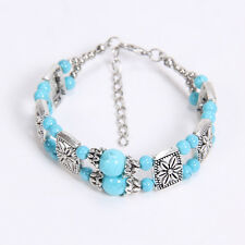 Free shipping New Tibet silver multicolor jade turquoise bead bracelet S17B