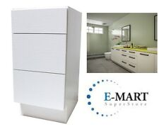 "15"" European Style 3 Drawer Bathroom Vanity White Crocodile Pattern in Plywood"