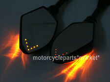 Universal 8MM 10MM Motorcycle LED Turn Signal Light Rearview Mirror Street Bike