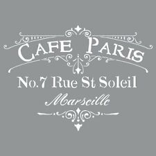 Deco Art Americana Decor Stencil, Cafe Paris Crafts Painting Drawing New Gi