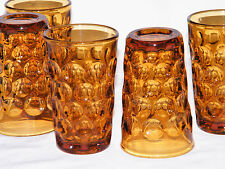 "5 Vtg HEISEY/IMPERIAL GLASS PROVINCIAL Amber JUICE GLASSES ~""H"" in Diamond~ Mark"