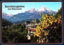 Berchtesgaden mit Watzmann , Ansichtskarte, ungelaufen