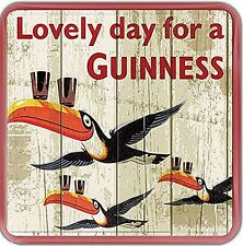 Guinness Flying Toucans ork baked drinks coaster 100mm x 100mm (sg)