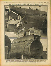 Submarine UC-5 Sous-Marins U-Boat Kaiserliche Marine Port New-York USA 1917 WWI