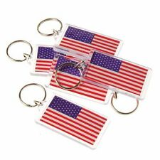 """US TOY GROUP LLC - USA American Flag Keychain Key Tags, - 2.5"""" (1-Pack of 12)"""