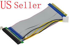 16X PCI-Express 25CM PCI-E 16X Riser Card Flexible Ribbon Extender Cable w/Molex