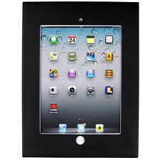 iPad 2 3 4 Air Anti-theft Secure Black Enclosure Case Wall Mount Display Cabinet